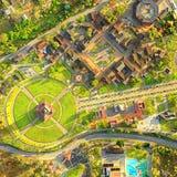 Κέντρο πόλεων της κεραίας του παγκόσμιου Κουίτο Ισημερινός Στοκ εικόνα με δικαίωμα ελεύθερης χρήσης