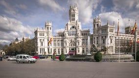Κέντρο πόλεων της Μαδρίτης απόθεμα βίντεο