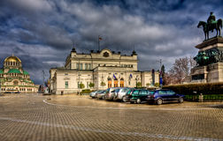 Κέντρο πόλεων της Sofia μετά από τη βροχή Στοκ Εικόνες