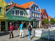 Κέντρο πόλεων του Stavanger στη Νορβηγία Στοκ Εικόνα