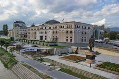 Κέντρο πόλεων των Σκόπια, Μακεδονία Στοκ φωτογραφία με δικαίωμα ελεύθερης χρήσης