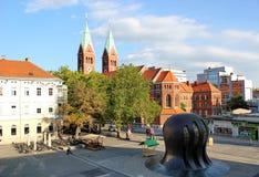 Κέντρο πόλεων Maribor, βασιλική της μητέρας ελέους μας Στοκ φωτογραφίες με δικαίωμα ελεύθερης χρήσης