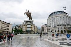 Κέντρο πόλεων Skopie, Μακεδονία Στοκ εικόνα με δικαίωμα ελεύθερης χρήσης