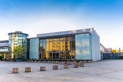 Κέντρο συνεδρίων στη θέση της Σάαρμπρουκεν Saarland Γερμανία για το exhibi στοκ εικόνες