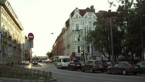 Κέντρο της Άγιος-Πετρούπολης, Ρωσία: Οδός απόθεμα βίντεο