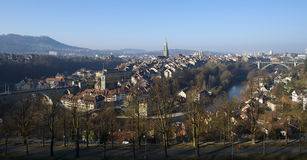 Κέντρο της Βέρνης το πρωί στοκ εικόνες
