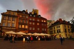 Κέντρο της Βαρσοβίας Στοκ Φωτογραφίες