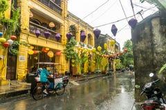 Κέντρο της πόλης σε Hoi, Βιετνάμ στοκ εικόνες