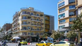 Κέντρο της πόλης των Σέρρες, Ελλάδα στοκ εικόνα