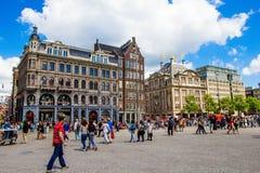 Κέντρο της πόλης του Άμστερνταμ στοκ φωτογραφίες