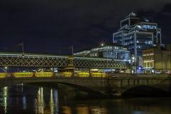 Κέντρο της πόλης του Δουβλίνου τη νύχτα Στοκ Εικόνες