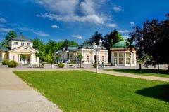 Κέντρο της πόλης Frantiskovy Lazne SPA - Δημοκρατία της Τσεχίας Στοκ φωτογραφία με δικαίωμα ελεύθερης χρήσης