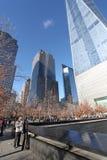 Κέντρο του World Trade Center και 9/11 αναμνηστική Νέα Υόρκη, ΗΠΑ Στοκ φωτογραφία με δικαίωμα ελεύθερης χρήσης