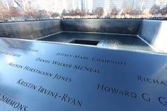 Κέντρο του World Trade Center και 9/11 αναμνηστική Νέα Υόρκη, ΗΠΑ Στοκ Φωτογραφία