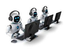 Κέντρο υποστήριξης AI διανυσματική απεικόνιση