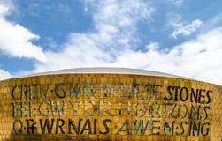 Κέντρο χιλιετίας της Ουαλίας, κόλπος του Κάρντιφ Στοκ φωτογραφία με δικαίωμα ελεύθερης χρήσης