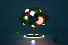 Κέντρο Luminant δέντρων παιχνιδιών Στοκ φωτογραφία με δικαίωμα ελεύθερης χρήσης