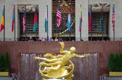 Κέντρο Plaza Rockefeller στην πόλη της Νέας Υόρκης Στοκ εικόνα με δικαίωμα ελεύθερης χρήσης