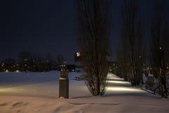 Κέντρο TOHU τη νύχτα Στοκ Φωτογραφία