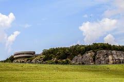 Κέντρο Warasaw Μισσούρι ΗΠΑ επισκεπτών φραγμάτων Truman Στοκ Εικόνες