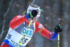 Κέρατο welle-σκελών κώλων - biathlon Στοκ Φωτογραφίες