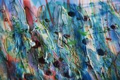 Κέρινο ρόδινο άσπρο μπλε υπόβαθρο χρωμάτων watercolor Στοκ Εικόνα