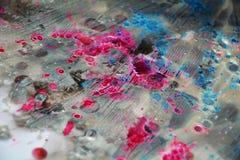 Κέρινο υπόβαθρο watercolor στα ρόδινα αργυροειδή χρώματα Στοκ Εικόνες