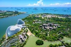 Κήποι από τον κόλπο, Σιγκαπούρη, Ασία Εναέρια άποψη του θόλου λουλουδι στοκ εικόνα με δικαίωμα ελεύθερης χρήσης
