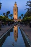 Κήποι μουσουλμανικών τεμενών Koutoubia στο Μαρακές, Μαρόκο Στοκ φωτογραφία με δικαίωμα ελεύθερης χρήσης
