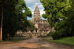 Κήποι ναών, Angkor Wat στην Καμπότζη Στοκ φωτογραφία με δικαίωμα ελεύθερης χρήσης