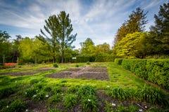 Κήποι στο δενδρολογικό κήπο Cylburn, στη Βαλτιμόρη, Μέρυλαντ στοκ φωτογραφία με δικαίωμα ελεύθερης χρήσης