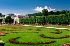 Κήποι στο Σάλτζμπουργκ, Αυστρία στοκ φωτογραφία