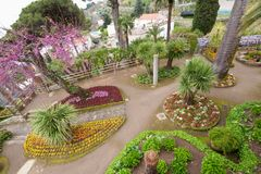 Κήποι της ακτής Rufolo Ravello Αμάλφη βιλών στοκ εικόνες με δικαίωμα ελεύθερης χρήσης