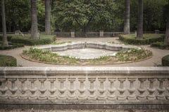 Κήποι του παλατιού, Παλάου de les Heures Βαρκελώνη Στοκ εικόνα με δικαίωμα ελεύθερης χρήσης