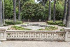 Κήποι του παλατιού, Παλάου de les Heures Βαρκελώνη Στοκ εικόνες με δικαίωμα ελεύθερης χρήσης