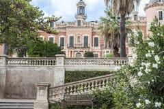 Κήποι του παλατιού, Παλάου de les Heures Βαρκελώνη Στοκ φωτογραφίες με δικαίωμα ελεύθερης χρήσης