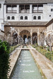 Κήποι του Generalife στην Ισπανία, μέρος Alhambra Στοκ Φωτογραφία