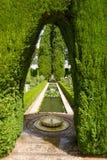 Κήποι του Generalife στοκ φωτογραφία