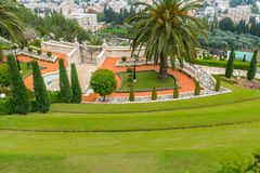 κήποι Χάιφα bahai στοκ εικόνα