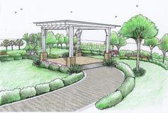 κήποι Χάμιλτον Νέα Ζηλανδία κήπων σχεδίου Στοκ φωτογραφία με δικαίωμα ελεύθερης χρήσης