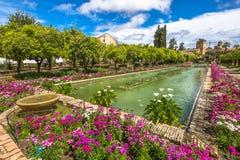 Κήποι Alcazar Κόρδοβα στοκ εικόνες
