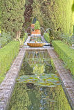 Κήποι Generalife, alhambra, Ισπανία Στοκ Εικόνες