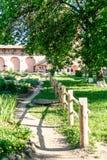 Κήπος αποθηκαρίων του μοναστηριού λυτρωτών του ST Euthymius, Ρωσία, Σούζνταλ Στοκ Εικόνα