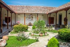 Κήπος από το αποικιακό σπίτι από τη Νικαράγουα Στοκ Φωτογραφίες