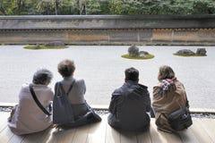 Κήπος βράχου της Zen Hojo Στοκ εικόνα με δικαίωμα ελεύθερης χρήσης
