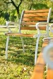 κήπος εδρών Στοκ φωτογραφίες με δικαίωμα ελεύθερης χρήσης