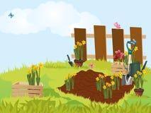 Κήπος επίσης corel σύρετε το διάνυσμα απεικόνισης διανυσματική απεικόνιση