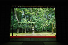 κήπος Ιαπωνία ιαπωνικό Κιότ& Στοκ εικόνα με δικαίωμα ελεύθερης χρήσης