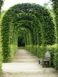 Κήπος κάστρων αναγέννησης Chamerolles στο Loiret στη Γαλλία στοκ εικόνα