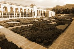 Κήπος και διάδρομος Rabati Castle Akhaltsikhe στοκ φωτογραφία με δικαίωμα ελεύθερης χρήσης